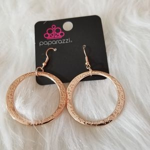 Paparazzi Gold Design Hoops